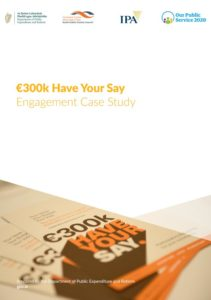 Cover of case study document - 300k have your say