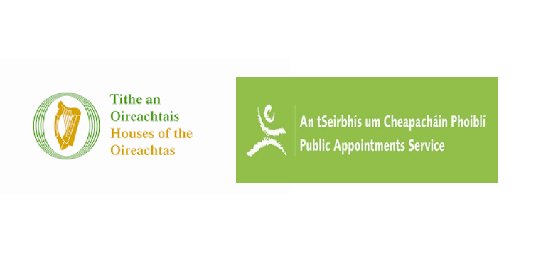 Houses of Oireachtas Logo and Public Appointments Service Logo