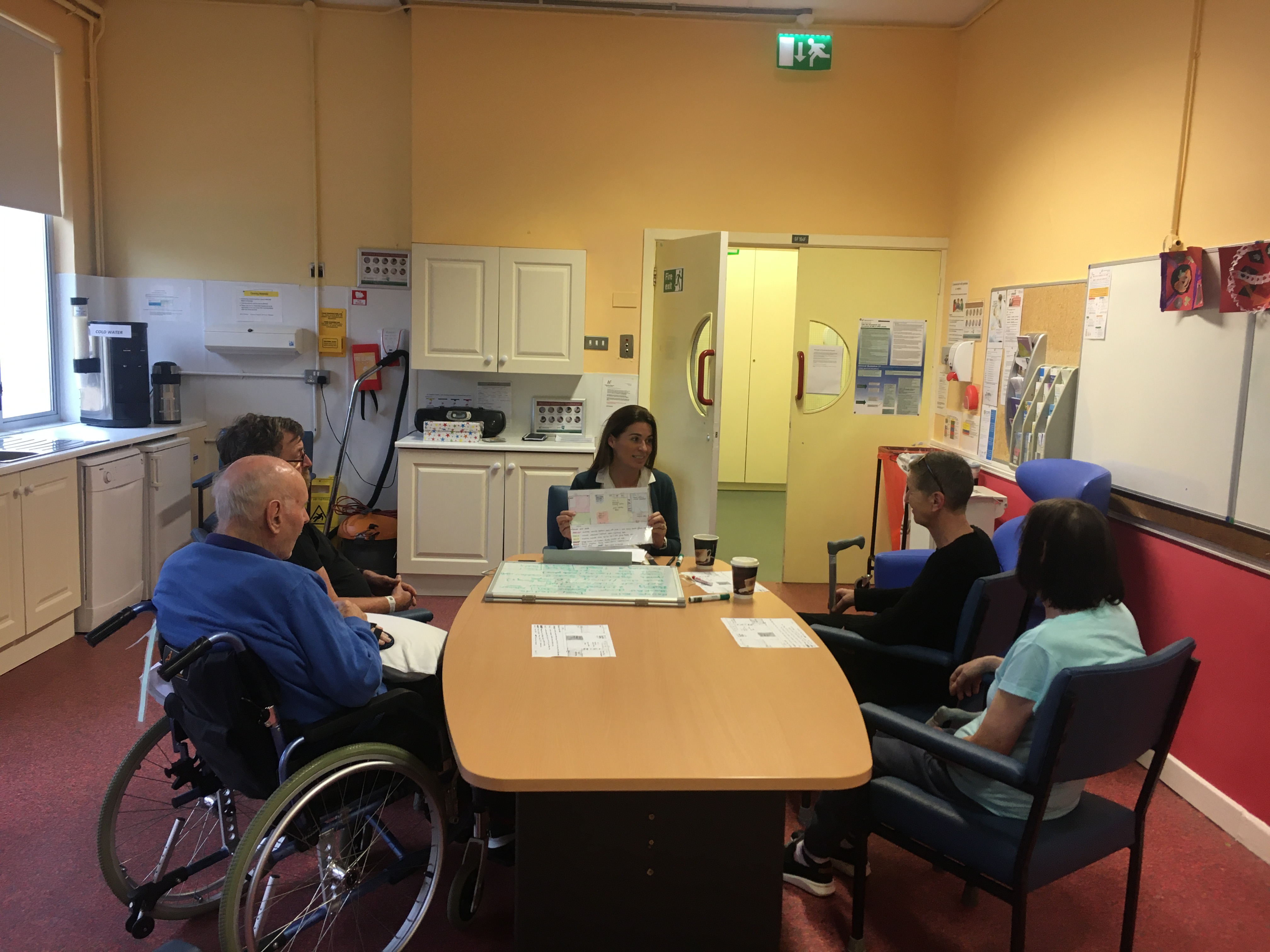 A focus group for service users to discuss what they would like from the new rehabilitation facilities