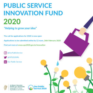 Flyer for the 2020 Public Service Innovation Fund