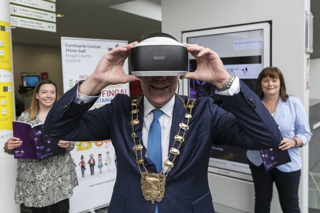 Aishling Hyland, Digital Strategy Manager, Cllr Eoghan O'Brien, Former Mayor of Fingal and AnnMarie Farrelly, Chief Executive, Fingal County Council