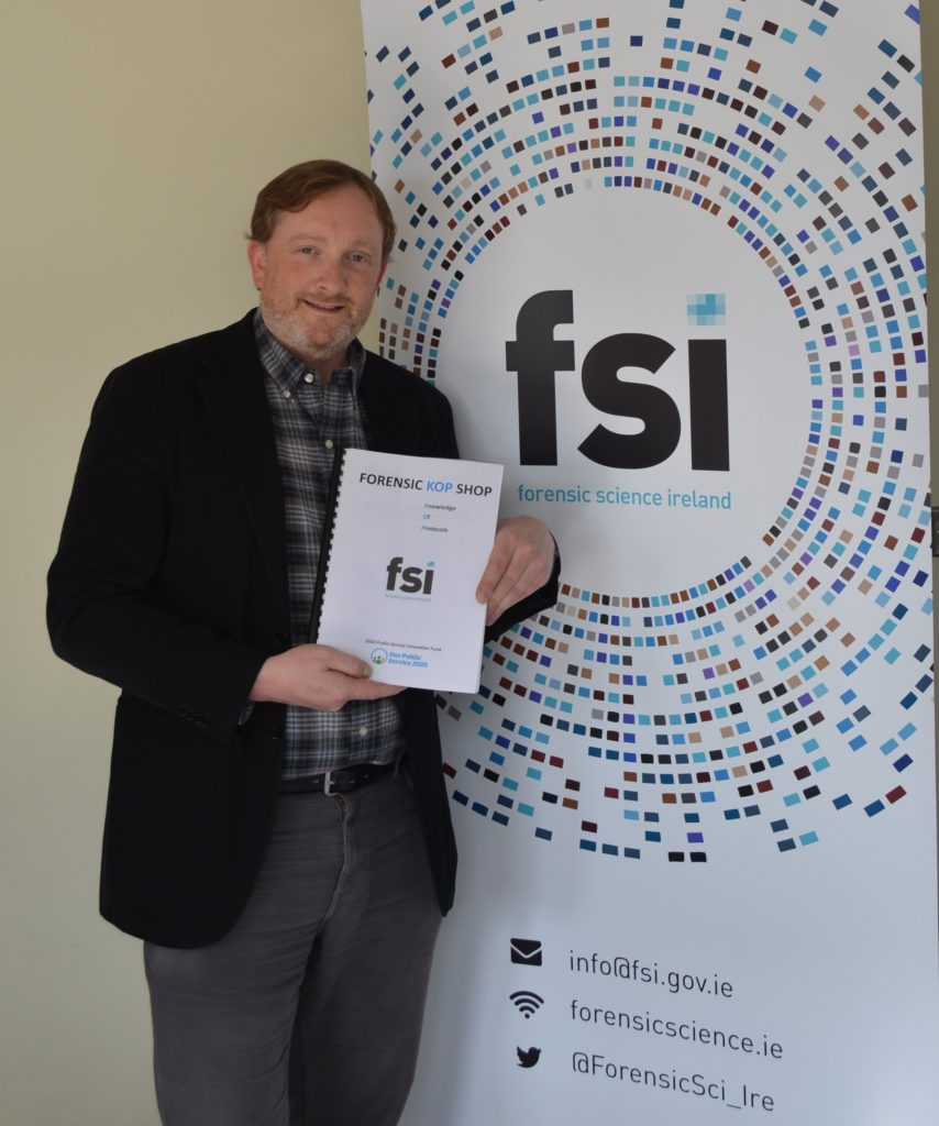 Dr. John O'Shaughnessy, Chemistry Team Manager, Forensic Science Ireland