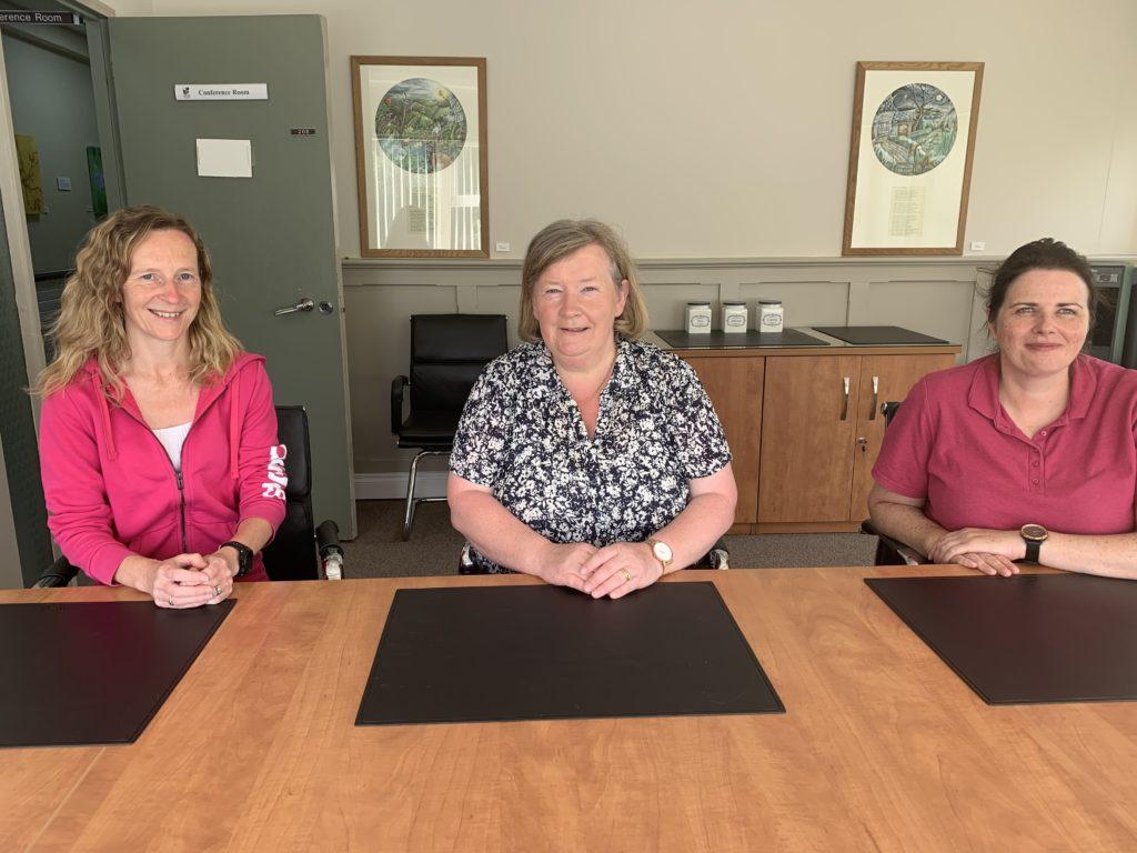 Carmel O'Hare, Nuala Woods and Sinéad McCann from Monaghan County Council