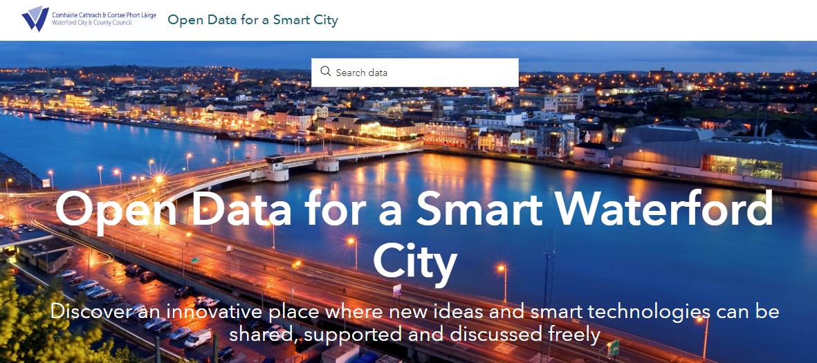 Data for a Smart Waterford City page